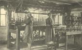 Eine Hausweberei zur Zeit der Industrialisierung